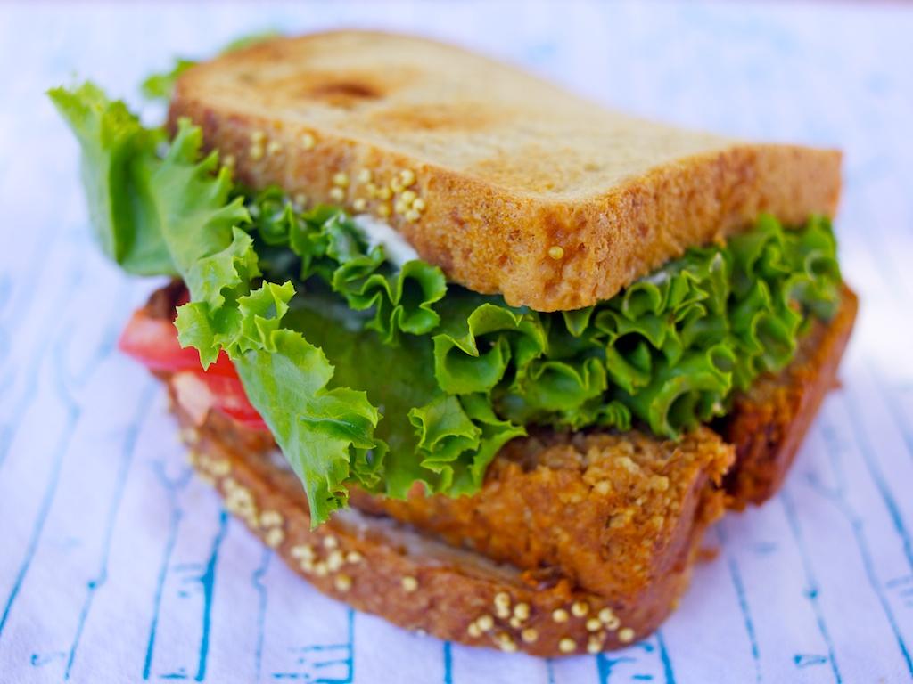 lentil loaf sandwich