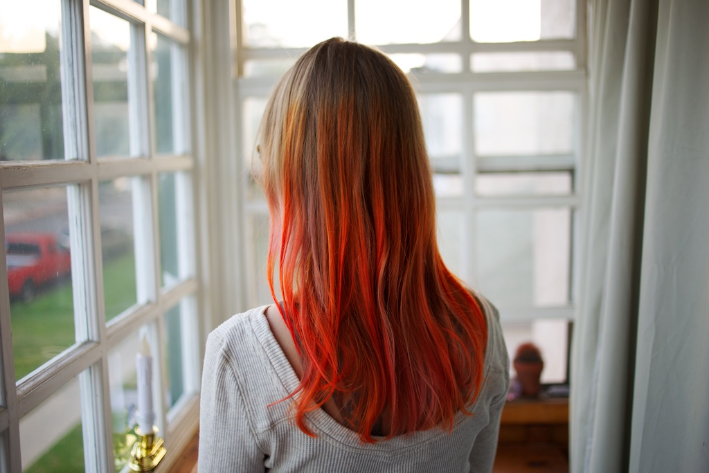 orange and pink hair 209