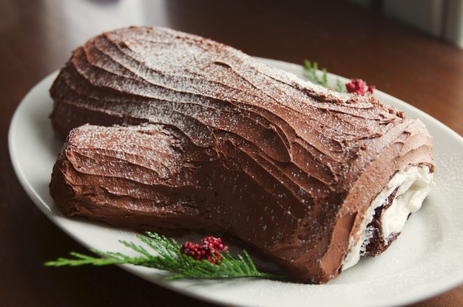 vegan yule log