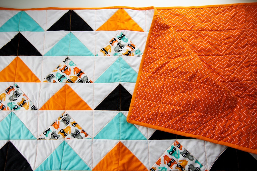 Baby Quilt Patterns With Triangles : triangle baby quilt : CUTE + DELICIOUS